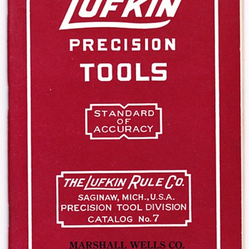 Pre 1960 Lufkin Precision Tool Catalogs defined