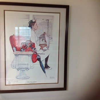 normal rockwell on vacation signed by thomas rockwell - Posters and Prints