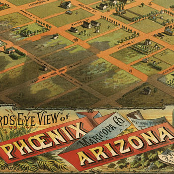 Dyer's Birdseye view of Phoenix (1885) - Paper