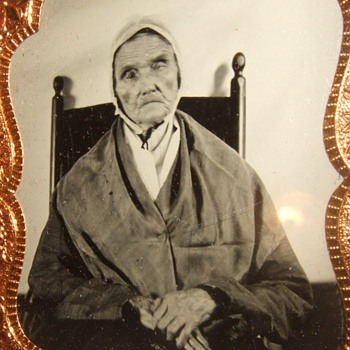 Sixth plate tintype of 95 year old woman - Photographs