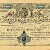 Prin-Seti Gold Mining Company stock certificate