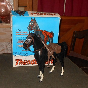 Johnny West Black Thunderbolt Horse With Original Box