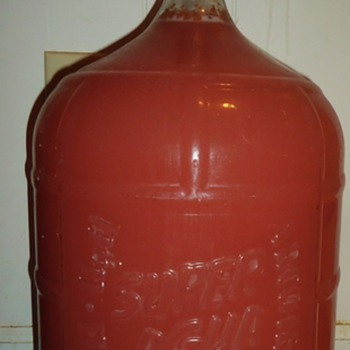 Update on Super Agua Mexico carboy,m brought back 1972.  Now making red wine!