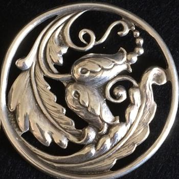 Scandinavian? American? silver brooch.
