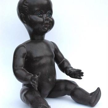ancienne poupée plastique noire années 50