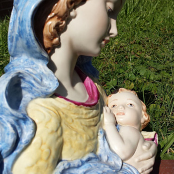 Madonna and child bust