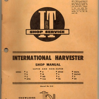 1956 - Int'l Harvester Shop Manual