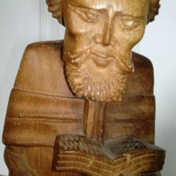 Wood   Carved  Figure Of a Man