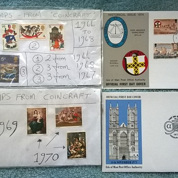 stamps and first day issues from the 1960s/70s. - Stamps
