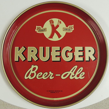 KREUGER Beer Tray - Newark NJ - Breweriana