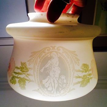 Bohemian? Mt Washington? Webb? Cameo Portrait? Lamp Shade  - Art Glass