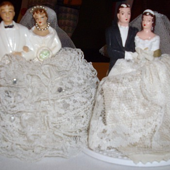 Vintage wedding cake toppers.  - Art Pottery
