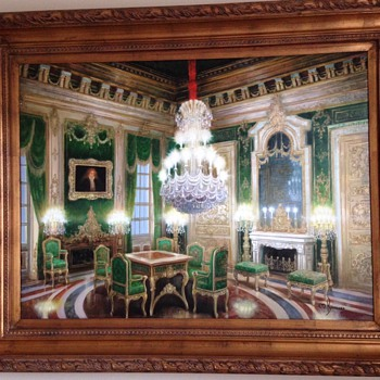 The Green Room by M. Boussard Oil Painting