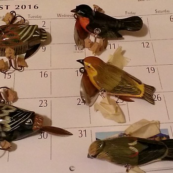 My collection of vintage bird lures..