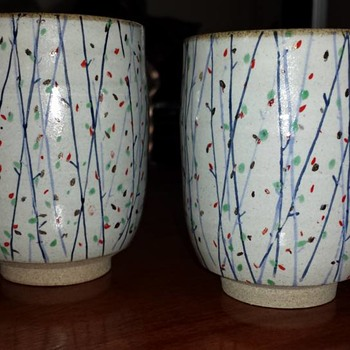 Pair of Yunomi Cups - Art Pottery
