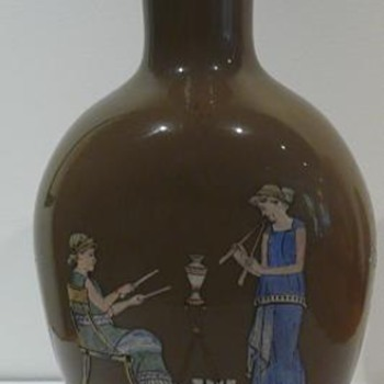 My Harrach Etruscan Revival Vase - Art Glass