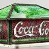 Coca-Cola leaded Glass Shade