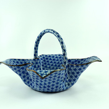 Blue and White Enamel Basket