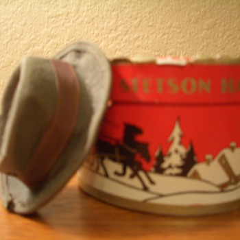 Vintage miniature stetson hat