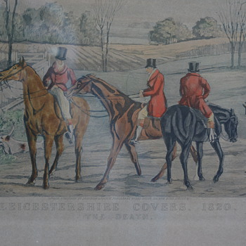 Leicestershire Covers 1820 by H. Alken/A. Tallberg - Visual Art
