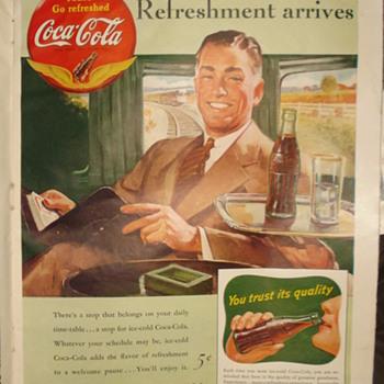 1941 PAUSE... &quot; GO REFRESHED COCA&#039;COLA &quot;AD