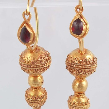 Ancient Gold Earrings - Fine Jewelry