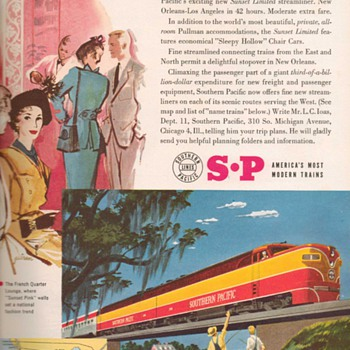 1951 - Southern Pacific Railroad Advertisement - Advertising