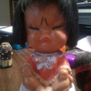 "Strange, Upset, plastic ""ethnic"" dolls - Dolls"