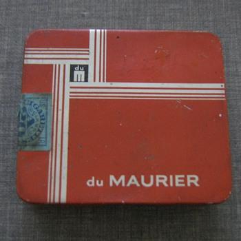 1960's cigarette tin du Maurier