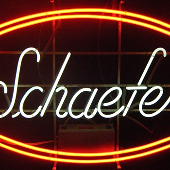 Large Schaefer Neon Sign - Signs
