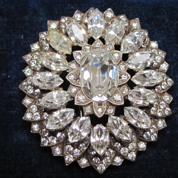 "Broach signed with ""Eisenburg Original"" and ""Sterling""  circa 1943-1945  - Costume Jewelry"