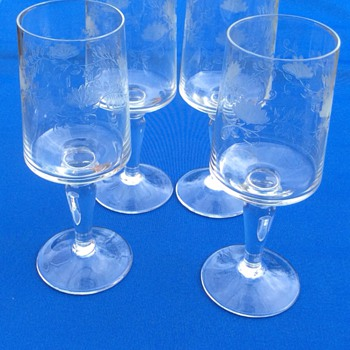 Antique engraved drinking glasses