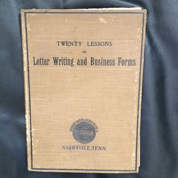 Letter Writing Book contains surprises Sheet music, Liberty Bell, Fighting Irish Broadside - Books