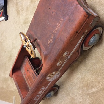 Angel Warford - Fire Chief Pedal Car