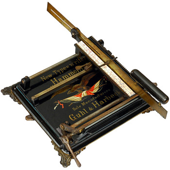 Hammonia typewriter - 1884, Germany