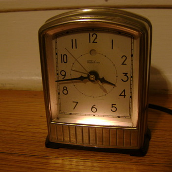 "Telechron Model AB711 ""Alarm-Lite"" - Art Deco"