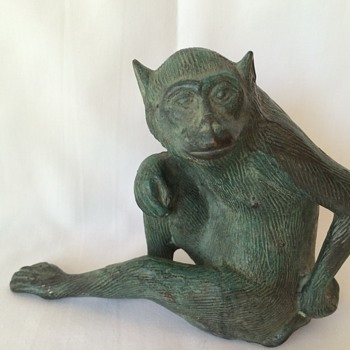 Bronze cast monkey
