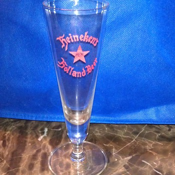 rare relic ? early heineken hbm beer glass  - Breweriana