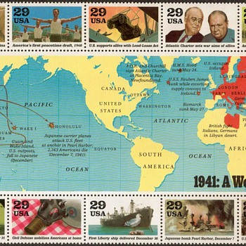 1991 - World War II Souvenir Sheet (U.S. Postage) - Stamps