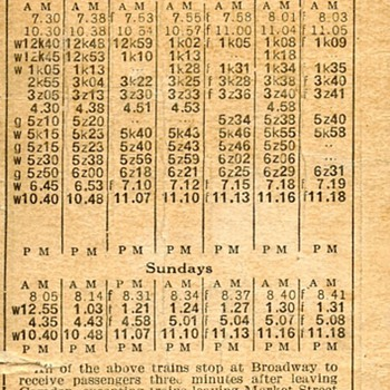 PRR (WJ&S) Passenger Timetable effective September 25, 1927