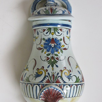 Antique Lavabo?, Water Cistern?~Danish?, Beautiful Old Pottery Piece - Pottery