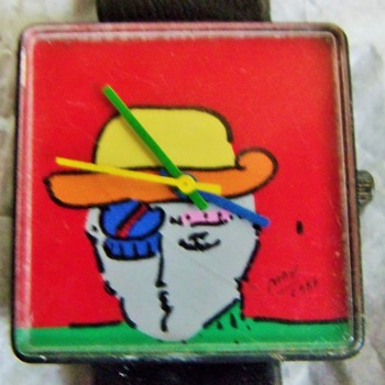 Peter Max Wristwatch, Circa 1986 - Wristwatches