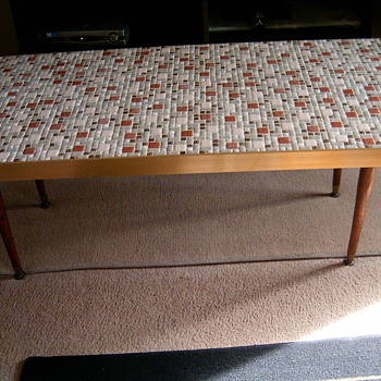 Retro Tile coffee Table 4 ft long