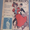 """SHEET MUSIC, ART NOUVEAU, 1906, """"TAKE ME ON THE ROLLERS"""" (ROLLER SKATING CRAZE)"""