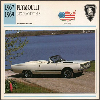 Vintage Car Card - Plymouth GTX - Cards