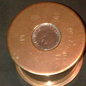TRENCH ART SHELL CASING CANISTER - Military and Wartime