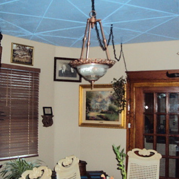 Custom dinning room ceiling in my house