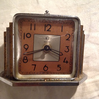 "1920's-1930's Art Deco French Dep ""Savoy"" alarm clock."