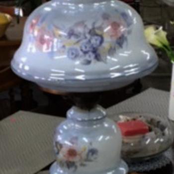 Working double globe lamp, three way lighting combo. - Lamps