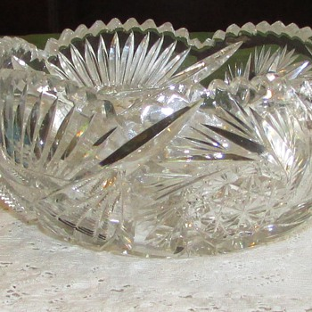 Vintage Crystal cut glass bowl - Glassware
